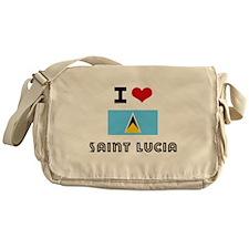 I HEART SAINT LUCIA FLAG Messenger Bag