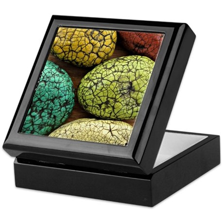 Painted Stones Keepsake Box