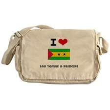 I HEART SAO TOMAE & PRINCIPE FLAG Messenger Bag
