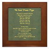 Prayer of st francis Framed Tiles