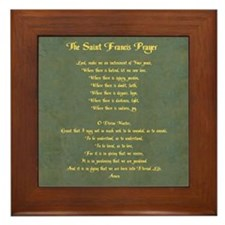 The St Francis Prayer Framed Tile