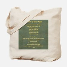 The Saint Francis Prayer Tote Bag