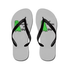 Ghost Hunting In Progress Flip Flops