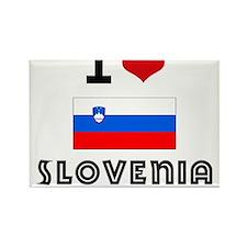 I HEART SLOVENIA FLAG Rectangle Magnet