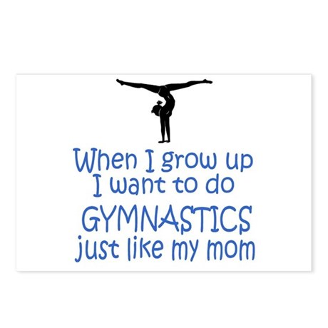 Gymnastics...just like MOM Postcards (Package of 8