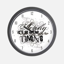 Grunge Acting Wall Clock