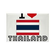 I HEART THAILAND FLAG Rectangle Magnet