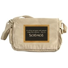 Singed Eyebrows makes it Science Messenger Bag