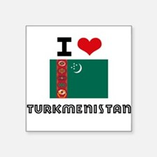 I HEART TURKMENISTAN FLAG Sticker