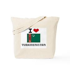 I HEART TURKMENISTAN FLAG Tote Bag
