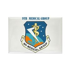9th Medical Group with Text Rectangle Magnet (100