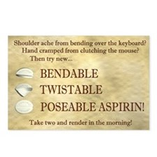 Poseable Aspirin Postcards (Package of 8)