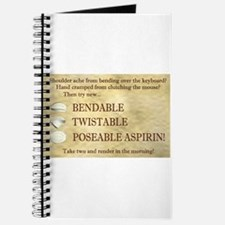 Poseable Aspirin Journal