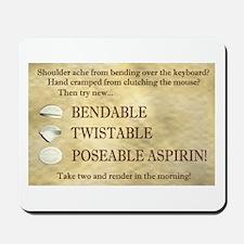 Poseable Aspirin Mousepad