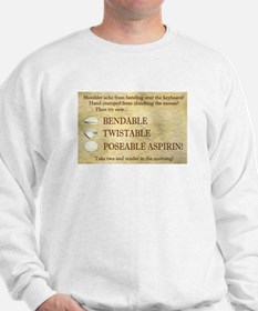 Poseable Aspirin Sweatshirt