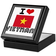 I HEART VIETNAM FLAG Keepsake Box