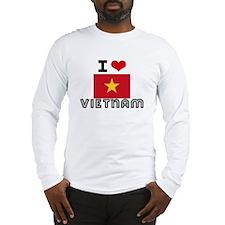 I HEART VIETNAM FLAG Long Sleeve T-Shirt