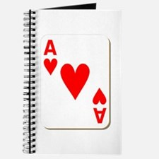 Ace of Hearts Playing Card Journal