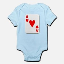 Ace of Hearts Playing Card Body Suit