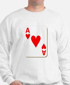 Ace of Hearts Playing Card Sweatshirt