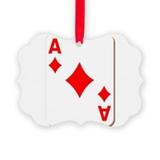 Ace of Diamonds Playing Card Ornament