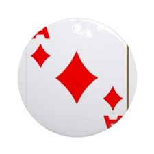 Ace of Diamonds Playing Card Ornament (Round)