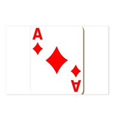 Ace of Diamonds Playing Card Postcards (Package of