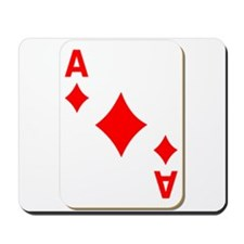 Ace of Diamonds Playing Card Mousepad