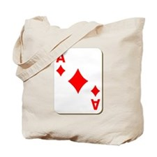 Ace of Diamonds Playing Card Tote Bag