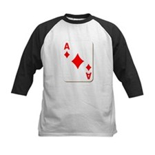 Ace of Diamonds Playing Card Baseball Jersey