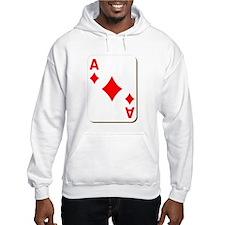 Ace of Diamonds Playing Card Hoodie