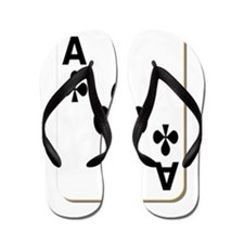 Ace of Clubs Playing Card Flip Flops