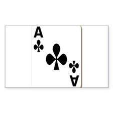 Ace of Clubs Playing Card Decal