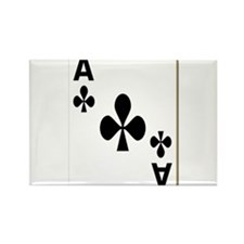 Ace of Clubs Playing Card Rectangle Magnet