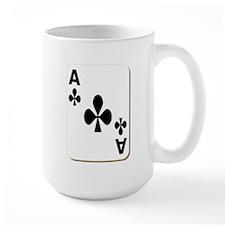 Ace of Clubs Playing Card Mug