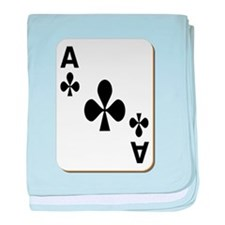 Ace of Clubs Playing Card baby blanket