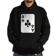 Ace of Clubs Playing Card Hoody