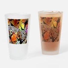 Eerie Abstract Square Drinking Glass