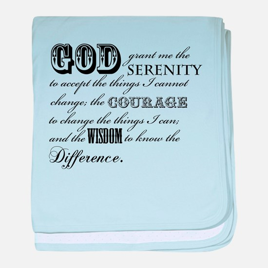 Serenity Prayer baby blanket