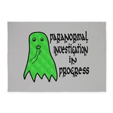 Paranormal Investigation in Progress 5'x7'Area Rug
