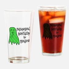 Paranormal Investigation in Progress Drinking Glas