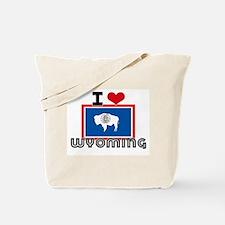 I HEART WYOMING FLAG Tote Bag