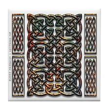 Rusty Celtic Knot Tile Coaster