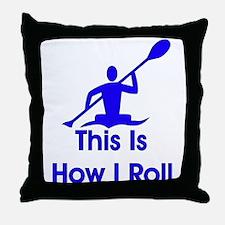 Kayaker Throw Pillow