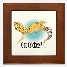 Gecko Got Crickets Framed Tile