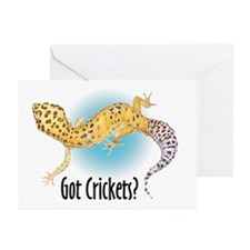 Gecko Got Crickets Greeting Cards (Pk of 10)