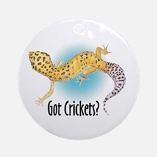 Gecko Got Crickets Ornament (Round)