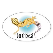 Gecko Got Crickets Oval Decal
