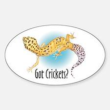 Gecko Got Crickets Oval Decal
