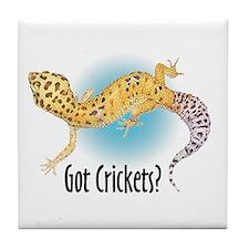 Gecko Got Crickets Tile Coaster